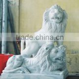 Antique Marble Lion Statues for Sale White Marble Stone Hand Carved Sculpture from Vietnam