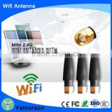 Mini Size high quality 2dB wireless 2.4g wifi antenna with sma connector for 2.4g wifi router