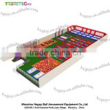 Customized design high jump indoor trampoline with dodge balls,slam dunk,sea balls,foam pit for adult and kids