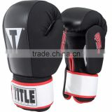 Boxing Gel Incite Washable Hook & Loop Heavy Bag Gloves - Regular - Black