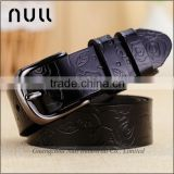 Embossed Flower Famous Brands Leather Belt Womens Factory                                                                         Quality Choice