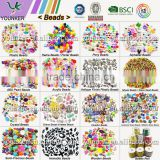 Wholesale Fashionable Plastic beads Pony Beads Glass Seed Beads Used for Jewelry Making And DIY Kits