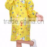 PVC rain coats for kids Transparent PVC Vinyl Raincoat Runway Style Womens Girls Clear Fashion Rain Coat