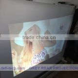 3D Holographic screen film hologram projector rear projection film clear/grey/dark grey/ white/mirror/black colors optional