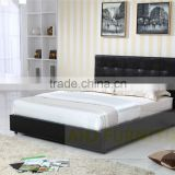 pu leather bed, black leather sofa bed, leather corner sofa bed