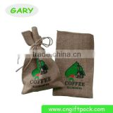 Custom Burlap coffee bag with Coffee Design
