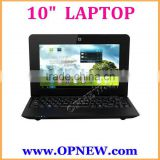Ultra slim Dual Core 10 INCH cheap Laptop Mini notebook Netbook ebook WM 8880 1.2GHz android 4.4 kitkat Camera wifi OPNEW
