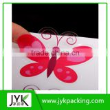 Custom pvc waterproof transparent self adhesive sticker label die cut sticker clear vinyl sticker