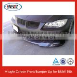 E90 CARBON LIP FOR BMW E90 CARBON/E90 BUMPER LIP/2006-2009 V STYLE CARBON FIBER FRONT LIP FOR BMW