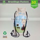 Promotional drawstring pouch faux leather
