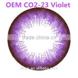 Cosmetic contact lense OEM CO2-23 violet color contact lens Korea wholesale price with 6 colors to choose