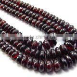 Natural Rhodonite Garnet Roundle Beads Necklace