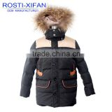 Kids Duck Down Jacket With Fur Hood for Boy Winter Jacket/Children Outwear