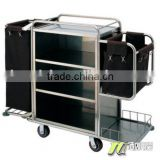 Hotel clean/housekeeping / collection vehicles/ cloth grass/ stainless steel service cart