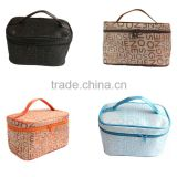 Women's letter Korean fashion square travel toiletry kits portable storage cosmetic bag