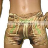 Bavarian Leather Pants as Sexy Boxer Shorts