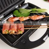 mini 2-slice electric toaster sandwich panini press grill maker
