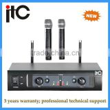 UHF FM Adjustable Frequency 2 channel Professional Teaching Handheld Wireless Microphone