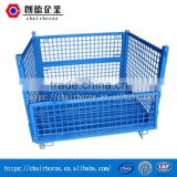Galvanized Mesh Box Wire collapsible pallet container for warehouse storage