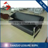 Chrome Legs Leather Sofa,Metal Frame Leather Sofa,Office Leather Sofa