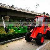 Elegant small wheel loader DY1150 lawn mower tractor front end loader with hedge trimmer