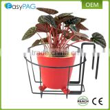 Wholesale cheap metal wire garden hanging flower basket stand