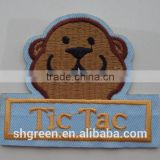 Mouse head design gum backing embroidery patch