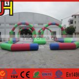 Customized inflatable go kart track, inflatable race track, inflatable zorb ball track for sale
