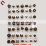 Metal Round Buttons For Coat Sweater Jeans Clothing Fastenings