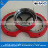 china manufacturer zoomlion concrete pump glasses plate and cutting ring, zoomlion concrete pump spare parts