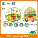 colorful baby floor play music mat crawling carpet kids activities blanket w/hanging toys