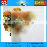 3-12mm Acid Etch Low Iron with AS/NZS 2208 Tempered Glass