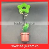 Plastic green hollow star top decorative flower pens wholesale