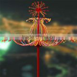 Christmas lighted super bright new year holiday lighting fly dragon desing led firework tree