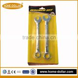 2pc combination wrench bicycle repair tool double open end wrench