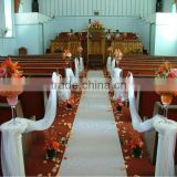 Party decorative carpet runner/factory hot sale decorative white wedding runner/wedding carpet/mat exhib