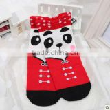 Latest Design Promotion Fashion Exclusive Sweetheart Princess Funny Anti-slip Jacquard Cartoon Animal panda Face Women Socks