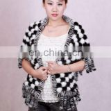 BY-1007 New Fashion Ladies' Knitted Mink Fur Shawl