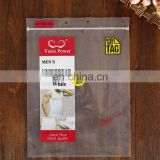 Customized logo Printed Plastic Transparent clothes Packaging Clear ziplock PE Cellophane Bags