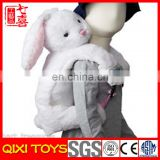 rabbit plush kids plush animal bag school bag backpack
