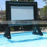 swimming pool inflatable screen theater /inflatable movie screen / inflatable movie screen for swimmingpool
