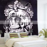 Skull Tapestry Beach Sheet wall hanging Large Indian Cotton Wall Boho hippie TWIN size Tapestries Bedspread Ethnic Art Bedding