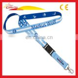 Printed Polyester Custom Keychain Neck Strap Custom