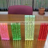 colorful transparent pmma plexiglass acrylic bubble rod