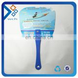 Customized logo plastic handle fan dvertising fan