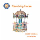 Zhongshan merry go round for sale amusement park 6 seat Revolving Horse, Carousel Small Kid Mini, earn money, kiddie