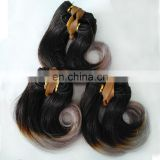 "Factory Direct 6""8"" Short Hair Weave Tangle Free Shedding Free Body Wave Ombre Color Hair"