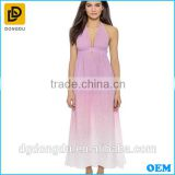 Tie dye dress women clothing sexy pink long dress beach maxi dress for ladies