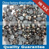 SS10 YAX280 Jet hematite color swainstone Crystal lady rhinestone custom hotfix graphics for tee shirts