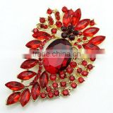 fashion silver gold crystal rhinestone alphabet letter mother's day pins make fabric flower brooches
